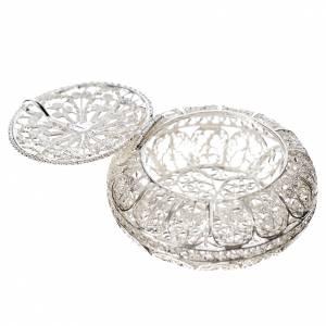 Rosary case, 4cm diameter in 800 silver filigree s2