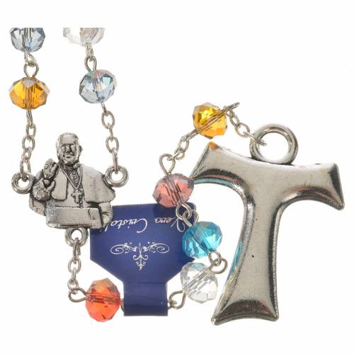 Rosary in crystal, Pope Francis and Saint Francis s1