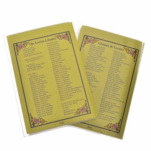 Rosary leaflet in EN or FR with rosary s4