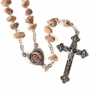 Rosary with grains in red stone with Our Lady of Medjugorje s1