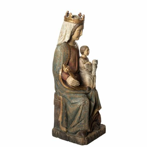 Rosay Virgin statue, 60 cm in painted wood, Bethléem s2
