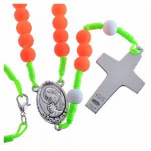 Besondere Rosenkränze: Rosenkranz aus Fimo Papst Franziskus orange
