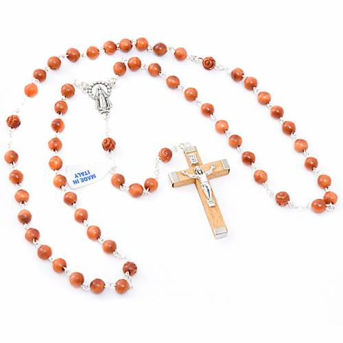 Round bead coconut rosary s3