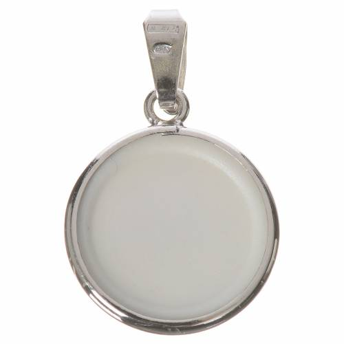 Round medal in silver, 18mm Saint Francis s2