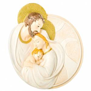 Round painting Holy Family 7cm s1