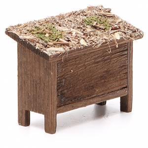 Ruches pour abeilles en bois et osier 6x7x3 cm s3