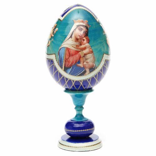 Russian Egg Hope to desperates découpage, Fabergè style 20cm s1