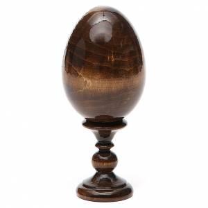 Russian painted eggs: Russian Egg St. Nicholas découpage 13cm