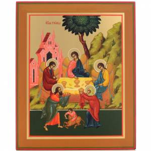 Russian icon, Holy Trinity 31x26cm s1