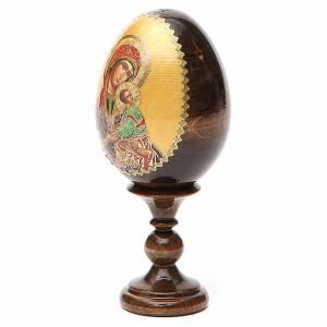 Handgemalte Russische Eier: Russiche Ei-Ikone Leidenschfatsgottesmutter 13cm Decoupage