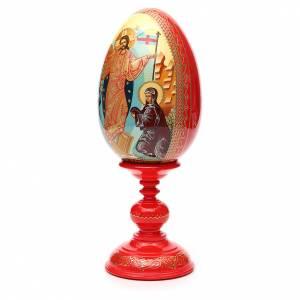 Handgemalte Russische Eier: Russiche Ei-Ikone Wiederauferstehung 36cm HANDGEMALT