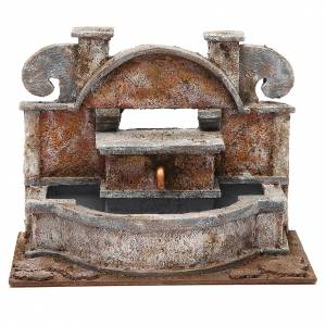 Fountains: Rustic Fountain nativity with big basins 20x25x15cm