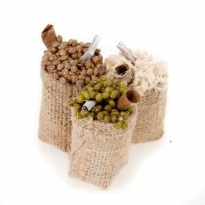 Saco de yute con comidas en terracota para el belén s1