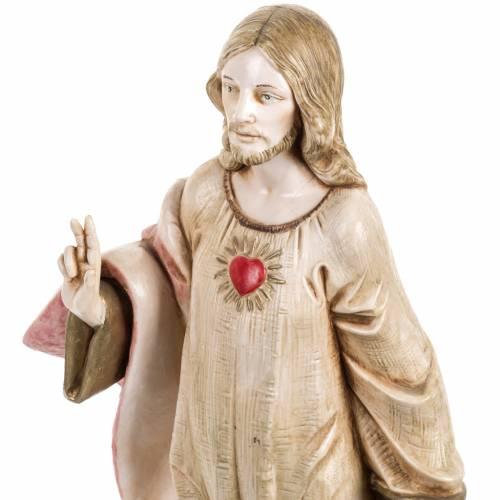 Sacré coeur de Jésus 30 cm Fontanini finition porcelaine s2