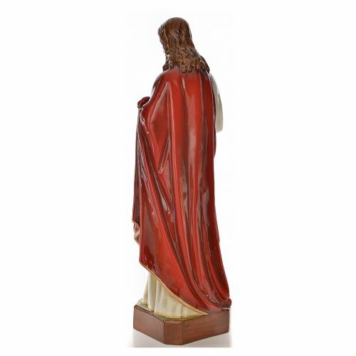 Sacred Heart of Jesus statue 130cm in painted reconstituted marb s3