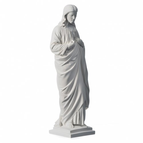 Sacro Cuore 50 cm marmo sintetico bianco s2