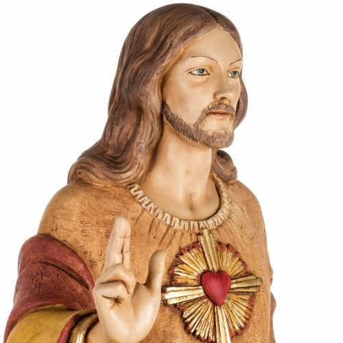 Sacro Cuore di Gesù 100 cm resina Fontanini s4