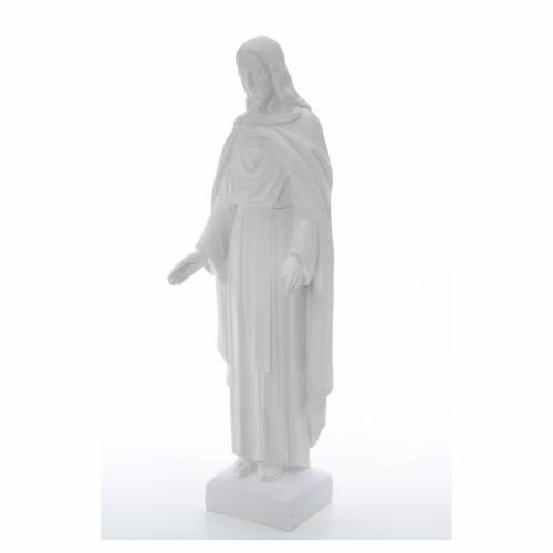Sacro Cuore di Gesù 62 cm polvere di marmo s2