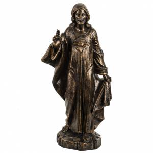 Imágenes de Resina y PVC: Sagrado Corazón de Jesús 50 cm. resina Fontanini bronceado