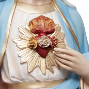 Sagrado Corazón de María 165 cm. fibra de vidrio coloreada s3