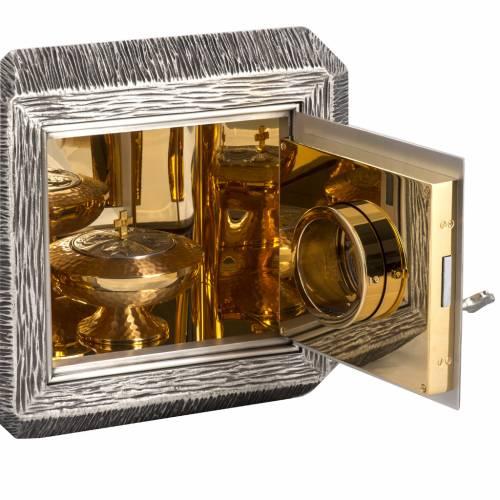 Sagrario IHS latón, imagen bronce s8