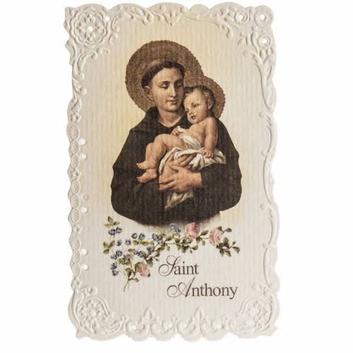 Saint Anthony holy card with prayer in ENGLISH s1