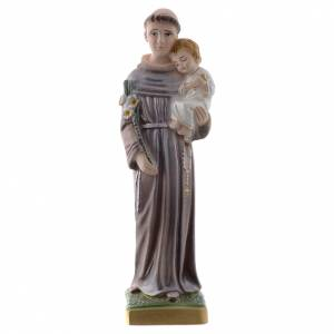Plaster Statues: Saint Anthony of Padua statue in pearlized plaster, 20 cm