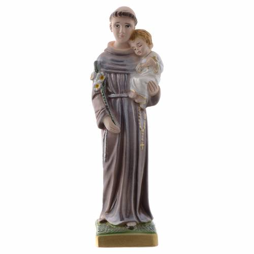 Saint Anthony of Padua statue in pearlized plaster, 20 cm s1