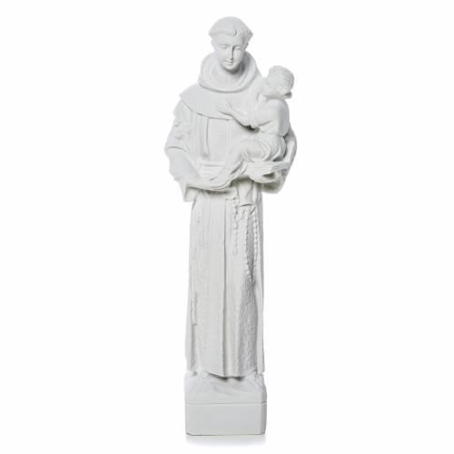 Saint Anthony of Padua statue in reconstituted Carrara marble s1