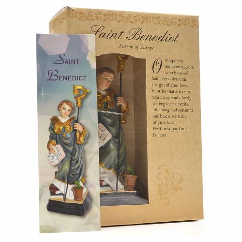 Saint Benedict 12cm with English prayer s3