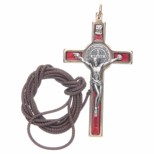 Saint Benedict cross red collier s3