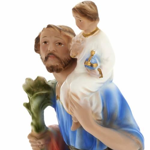 Saint Christopher statue in plaster, 30 cm s5