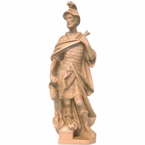 Saint Florian 27 cm bois patiné Valgardena s1