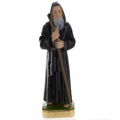 Saint Francis of Paola statue in plaster, 20 cm s1