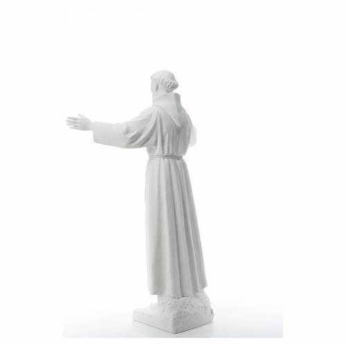 Saint Francis with open arms, 100 cm reconstituted marble statue s3