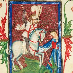 Saint George illuminated manuscript s2