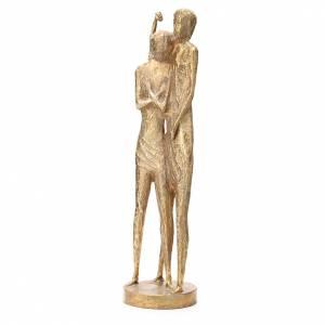 Saint Jean Baptiste stylisé laiton bronzé 58cm s2