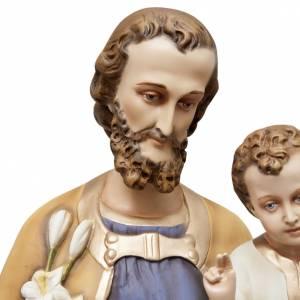 Saint Joseph and baby Jesus statue in fiberglass 130cm s3