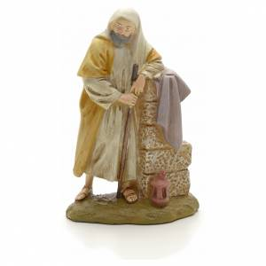 Nativity Scene figurines: Saint Joseph in painted resin 12cm affordable Landi Collection