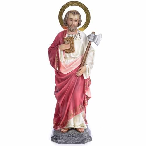 Saint Jude Thaddée 80 cm pâte à bois fin. élégante s1