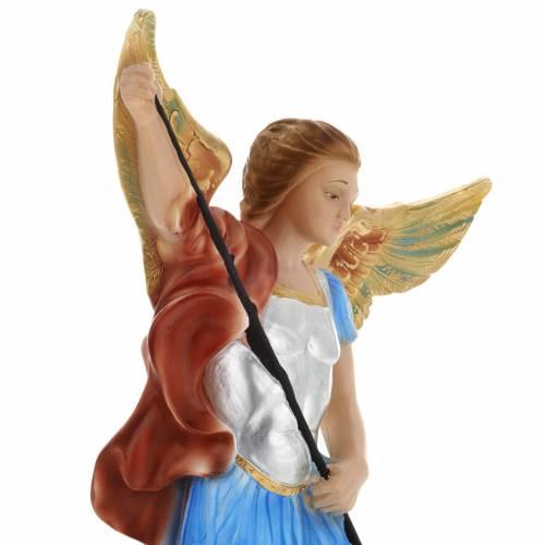 Saint Michael Archangel statue in plaster, 40 cm s5