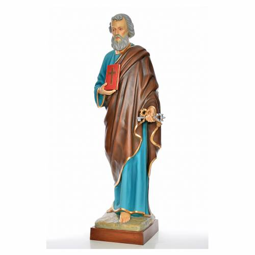 Saint Peter statue in painted fiberglass s2