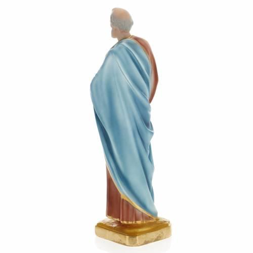 Saint Peter statue in plaster, 30 cm s3