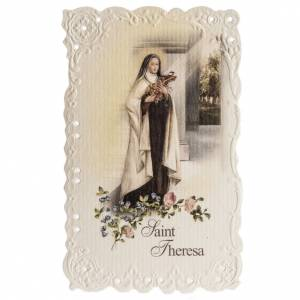 Holy cards: Saint Therese holy card with prayer in English