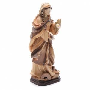 Sainte Christine avec lettre fleurs et livre en bois s3