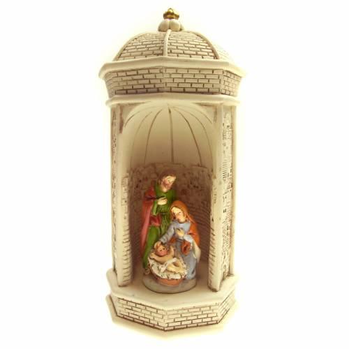 Sainte Famille en miniature et temple résine s1