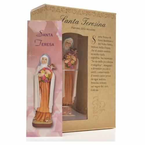 Sainte Thérèse 12cm image et prière en Italien s3
