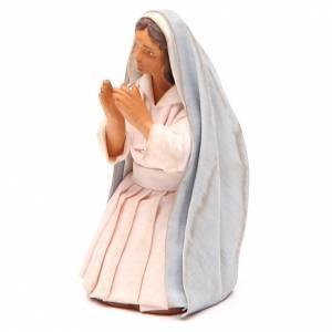 Sainte Vierge à genoux 12 cm crèche napolitaine s2
