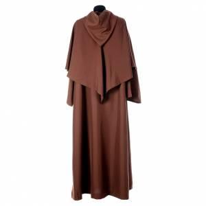 Saio francescano con mantella marrone poliestere s3