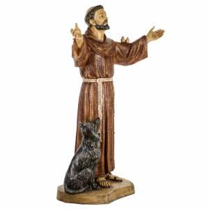 San Francesco d'Assisi 100 cm resina Fontanini s3